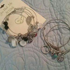 Jewelry - Silver Bracelet Bundle for Dog & Beach Lovers